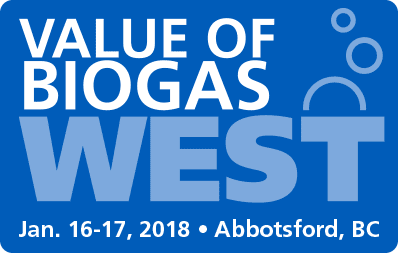 Value of Biogas West, in Abbotsford, BC on January 16th and 17th