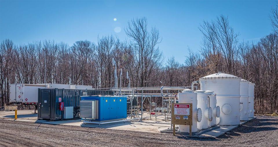 Biogas tank system in Warsaw