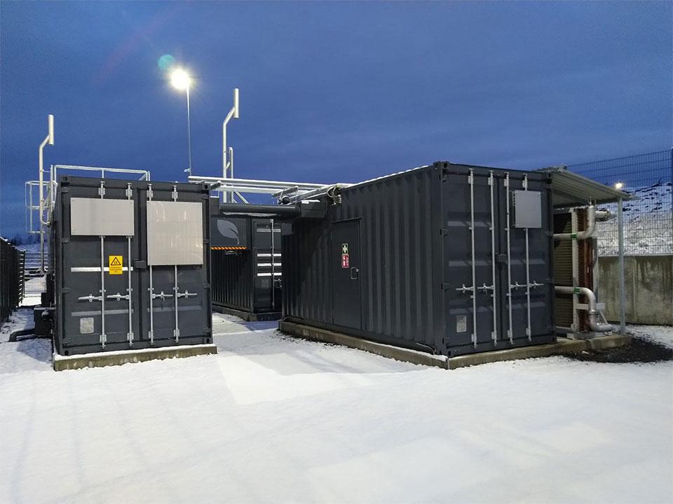 Biogas tank system in Oulu