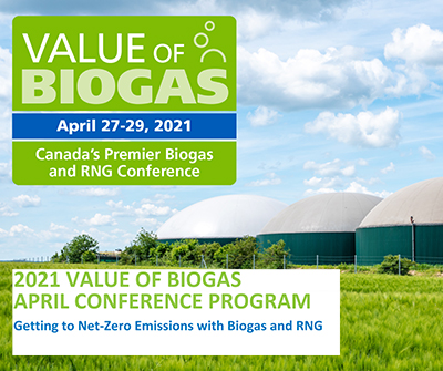 2021 Value of Biogas – April - Time Table
