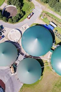 Overhead Biogas Farm